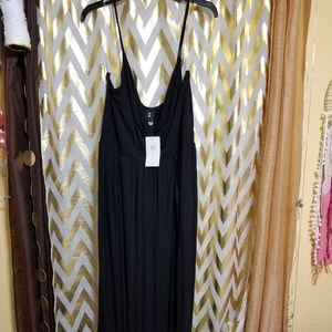 Double leg slit maxi dress